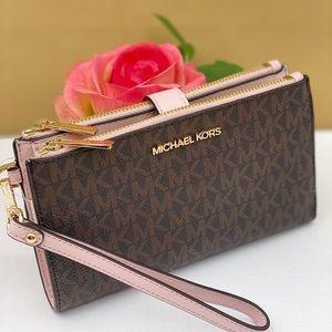 Michael Kors Wallet Wristlet Double Zip